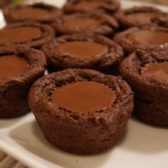 Reese's brownie Cups. I make these with sugar cookie mix too.