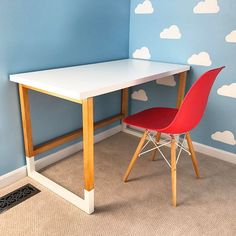 Build a Modern Desk with an IKEA Desktop - DIYwithRick