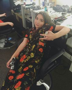 Rowan Blanchard backstage during the filming of Girl Meets Her Monster