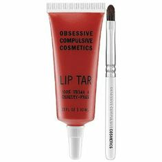 Obsessive Compulsive Cosmetics Lip Tar NSFW 0.33 oz by Obsessive Compulsive Cosmetics. $18.00. A high-opacity lipstick concentrate with unprecedented longevity. Flash a fabulous smile and a stunning splash of color with this lip formula that combines the longevity of a lipstick with the breezy application of a gloss. The rich pigment will drench your pout and the blend of essential oils, including hemp and peppermint, will soothe and soften the skin for a supremely...
