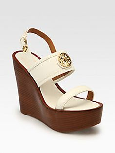 Tory Burch - Selma Leather Wedge Sandals