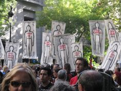 "Argentina protest for ""The Disappeared"""