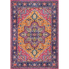 Fancy Persian Vonda Orange 5 ft. x 7 ft. 5 in. Area Rug