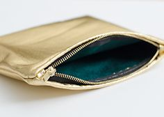 DIY gold leather & velvet lined clutch // brittanyMakes