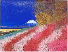 'Beautifully Colored Mt. Fuji' lithograph by Reiji HIRAMATSU - Japanese Painting Gallery