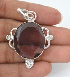 Stunning Amethyst Quartz Sterling Silver Plated Pendant Gift Ideas For Her E781 #valueforbucks #Pendant