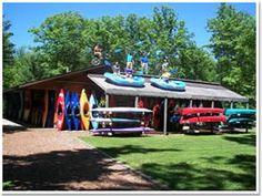 Pine river paddlesports in Wellston Michigan.