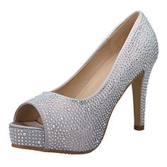 VELCANS Fashion Rhinestone Womens Platform High Heels PumpsBridal ShoesParty and Wedding Sandals Shoes 7 CDW US Silver *** You can get additional details at the image link.-It is an affiliate link to Amazon. #WeddingShoes