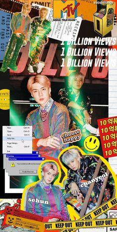 80s Posters, Kpop Posters, Park Chanyeol Exo, Baekhyun, Exo Album, Exo Lockscreen, Movie Covers, Indie Room, Manga Covers