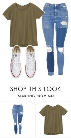 """Sem título #7689"" by ana-sheeran-styles ❤ liked on Polyvore featuring Topshop, Lee and Converse"