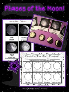 Solar System Unit: Phases of the Moon Oreo cookie activity!