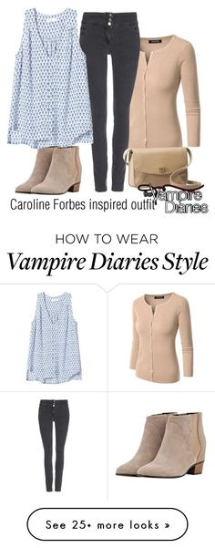 """Caroline Forbes inspired outfit/TVD"" by tvdsarahmichele on Polyvore featuring Wallis, Rebecca Taylor, Augusta and UGG Australia"