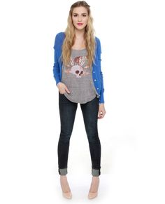 All Hours Dark Wash Skinny Jeans $40