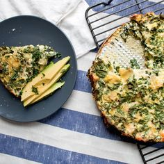 Recipe: Artichoke, Kale & Ricotta Pie — Six Ingredients (and Salt) Olive oil 4 eggs, beaten 8 ounces ricotta cheese 4 ounces Parmesan, grated 1 cup canned artichokes, chopped 1 bunch (3 to 4 large stalks) nero cavola kale, rib removed and leaves roughly chopped Salt and freshly ground black pepper