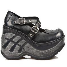 Chaussures Neo Cuña Sport Noires à Boucles M.SP9842-C1