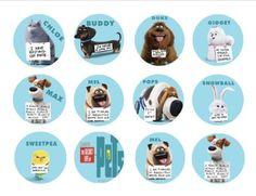 Food Card Gift Tags PRINTABLE Food Tent Secret Life of Pets Food Label