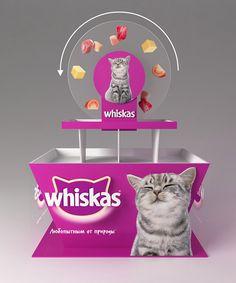 Whiskas POSM on Behance Pos Display, Display Design, Product Display, Pos Design, Retail Design, Graphic Design, Displays, Web Banner Design, Exhibition Stand Design