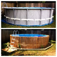 This is amazing above ground pool ideas with decks. Building a deck around your above ground pool changes the look and feel immensely. Oberirdischer Pool, Intex Pool, Swimming Pools, Pool Fun, Piscina Intex, Above Ground Pool Landscaping, Backyard Pool Landscaping, Backyard Ideas, Patio Ideas