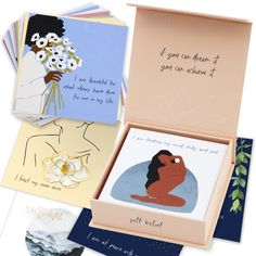 52 Affirmation Cards for Women - Positive Affirmations Cards, Daily Affirmations for Women, Meditation Cards, Self Care Card