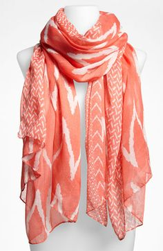 David & Young Zigzag Sheer Scarf