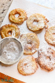 Apple fritters tutorial and recipe. I love this ring-shaped style of apple fritter--way more apple flavor!