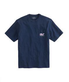 Marlin & Coral Whale Fill Pocket T-Shirt XL