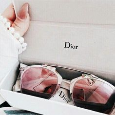 Dior rose gold mirror sunglasses