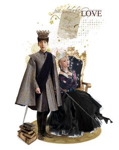 """Drama Queen and Smart King"" by blue-park ❤ liked on Polyvore featuring art"
