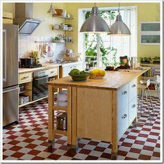 Ilha na cozinha