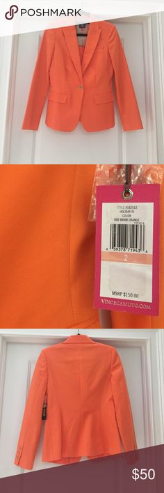 Vince Camuto Warm Orange Blazer New with tag, smoke free home, extra buttons Vince Camuto Jackets & Coats Blazers