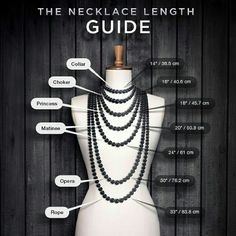 Necklace Length Chart Check chart for sizing details Jewelry Necklaces