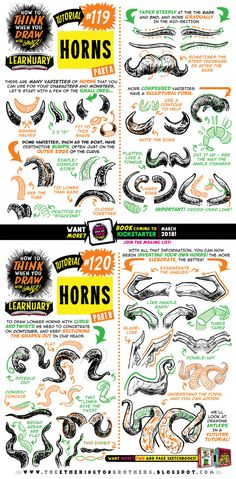 How to draw HORNS tutorial by STUDIOBLINKTWICE.deviantart.com on @DeviantArt
