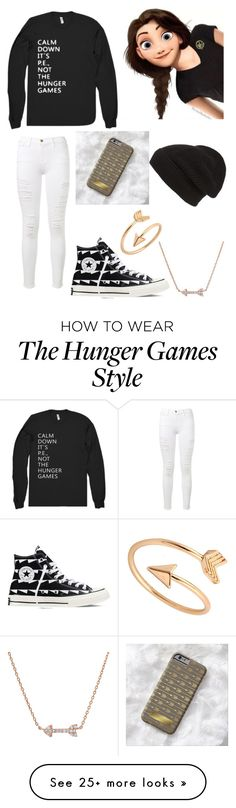 """""""The Hunger Games"""" by dance-girl15 on Polyvore featuring Frame Denim, Converse and Phase 3"""