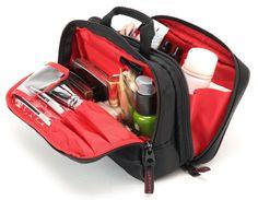 大きめサイズのスロープシェイプ・ポーチ<アイ・ポルカ> Box Bag, Makeup Case, Bags, Shopping, Handbags, Bag, Totes, Hand Bags