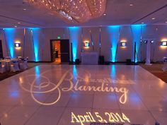 Dance floor monogram by Love in the Mix, San Francisco Bay Area.