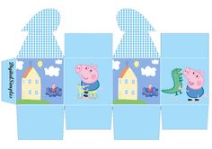 "KIT DE ANIVERSÁRIO 'PEPPA PIG"" - CONE PARA GULOSEIMAS, RÓTULOS, CONVITE "" PEPPA PIG"", ETC... - Convites Digitais Simples Peppa Pig Printables, Dinosaur Printables, Pig Birthday Cakes, Boy Birthday, Cumple George Pig, Peppa Big, George Pig Party, Aniversario Peppa Pig, Cumple Peppa Pig"