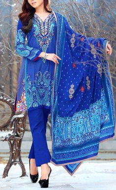 Buy Blue Embroidered Linen Salwar Kameez by LSM 2015 Call: (702) 751-3523 Email: Info@PakRobe.com www.pakrobe.com #WINTER_SALWAR_KAMEEZ https://www.pakrobe.com/Women/Clothing/Buy-Winter-Salwar-Kameez-Online