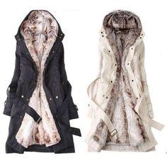 $29.99 Winter Women's Fur Thicken Warm Coat Hood Parka Overcoat Long Jacket Outwear #brandnew #BasicCoat