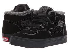d47000acb250 Vans Kids Half Cab (Toddler) Boy s Shoes (Sherpa) Black Black Toddler