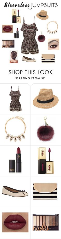 """""""()•()•()"""" by thaacutie ❤ liked on Polyvore featuring LE3NO, Gottex, Anton Heunis, Lipstick Queen, Yves Saint Laurent, John Lewis, Stella & Dot and sleevelessjumpsuits"""
