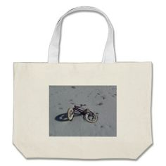 Bike in the Snow Tote Bag!  This bag is fully customizable to meet your needs with a variety of styles, graphics and colors!