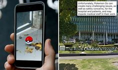 #Melbourne Royal Children's Hospital begs Pokémon GO players to stop dropping 'lures' outside - Daily Mail: Daily Mail Melbourne Royal…