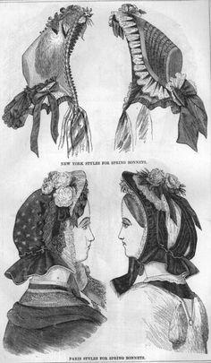 1860's bonnets
