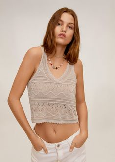 MANGO presents you its new collection. Have a look at our online catalogue and discover the latest fashion trends surfing along the jeans, T-shirts and . Shirts & Tops, Mango France, Wishlist Shopping, Skinny, Knitted Fabric, Latest Fashion Trends, Summer Outfits, Knitting, Clothes