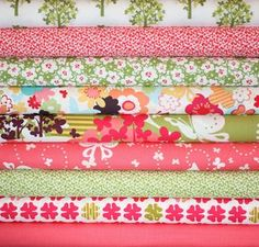 """Momo """"Just Wing It"""" fabric series: I love all of these, but I especially love the Garden Print."""