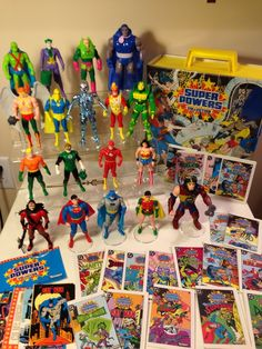 Huge Kenner Super Powers Action Figure Collection Series 1