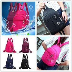 D Elegant Canvas Women s Backpack Knapsack Packsack Satchel Small School Bag 15295a8cb553b