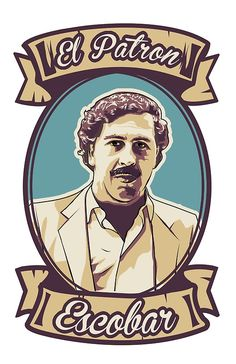 'Pablo Escobar - El Patron' T-Shirt by romeotees Pablo Escobar Poster, Pablo Escobar Frases, Pablo Emilio Escobar, Dope Cartoon Art, Dope Cartoons, Narcos Escobar, Narcos Pablo, Rapper Art, Geometric Tattoos