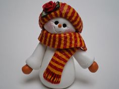 I am in love with this little snowman. The color combination isn't what I would normally choose, but I think that is what I lik...