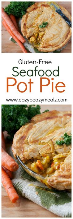 Gluten-Free Seafood Pot Pie: The flakiest golden crust, rich flavor, and seafood. The ultimate comfort food. #sp -Eazy Peazy Mealz